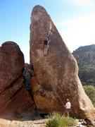 Rock Climbing Photo: Joe on Raging Inferno (#83 on Karabin's guide). Ro...