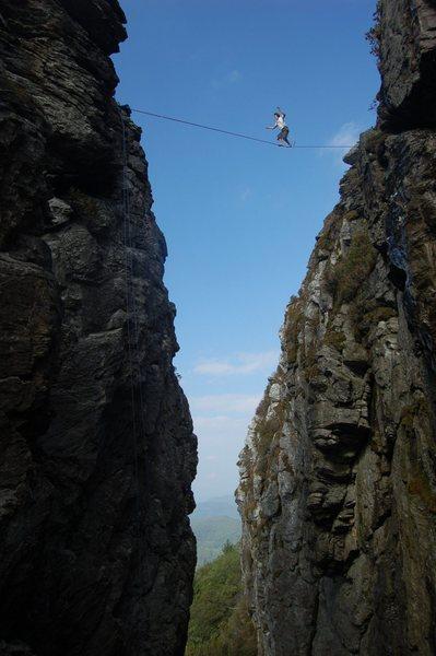 Rock Climbing Photo: Devils Cellar Highline!