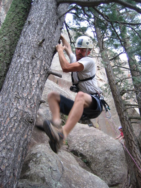 Rock Climbing Photo: Getting off route...