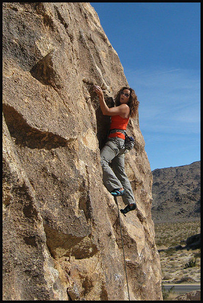 "Rock Climbing Photo: Susan Peplow screaming silently on ""Silent Sc..."