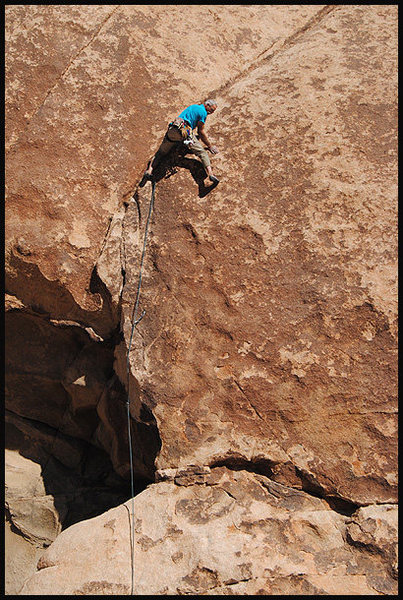 """Rock Climbing Photo: Marty Lewis on """"Genuine Cowhide"""". Photo ..."""
