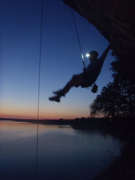 Rock Climbing Photo: Right on the lake