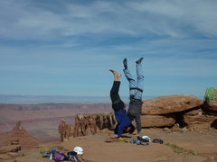 Rock Climbing Photo: topout