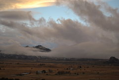 Rock Climbing Photo: Early November storm with high winds over Castle V...