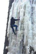 Rock Climbing Photo: Fox reporter/anchorman Patrick Elwood climbs the s...