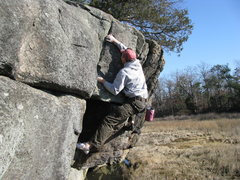 Rock Climbing Photo: cleaning up a new sunny spot