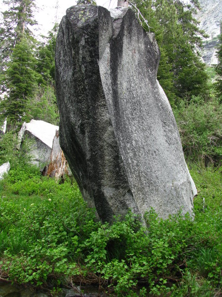 this boulder is on the tokopah falls trail...near the end