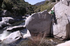 Rock Climbing Photo: bouldering along the middle fork kaweah river. foo...