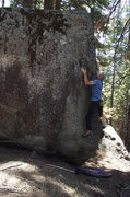 Rock Climbing Photo: a nice little squeeze arete problem near the upper...