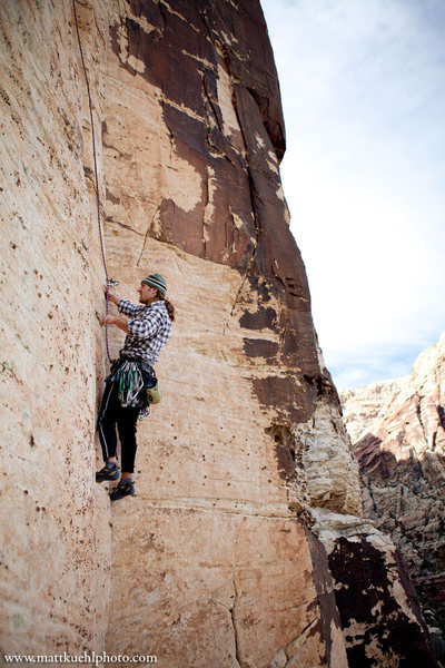 Rock Climbing Photo: Andy Reger on Mudterm, Jan 2012  mattkuehlphoto.co...