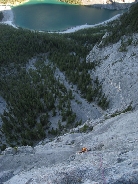 Rock Climbing Photo: True Grit on EEOR A. Larose climbing