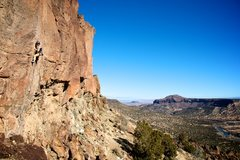 Rock Climbing Photo: Super good climbing with a superb view. January 20...