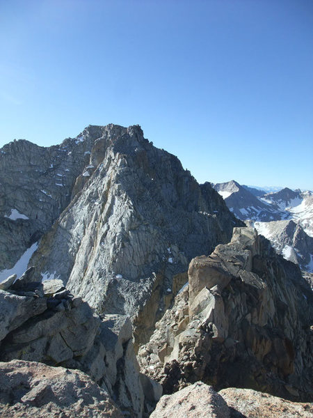 Mendel from the summit of 13,360