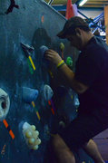 Rock Climbing Photo: Kevin Collie on the Cube.        photo by Jack Lee