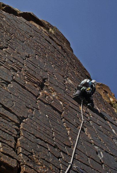 Rock Climbing Photo: The money pitch of Armatron-   Juniper Canyon, Red...