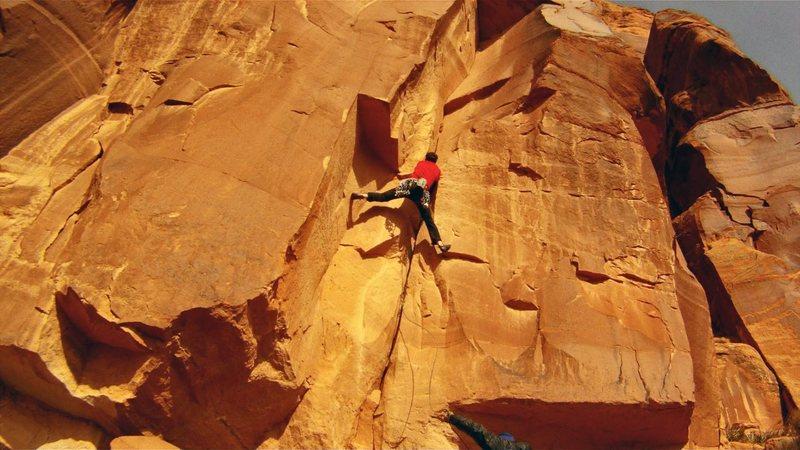 Rock Climbing Photo: En route.