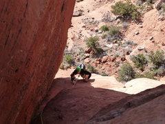 Rock Climbing Photo: Greg following pitch 3. Fun stuff