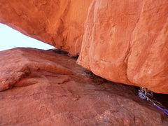 Rock Climbing Photo: Crux move. Just before pulling the buldge. There i...