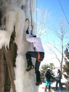 Rock Climbing Photo: Nice Ice at the silo today.