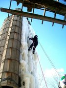 Rock Climbing Photo: Ice is close to collapse and meltout, but still cl...