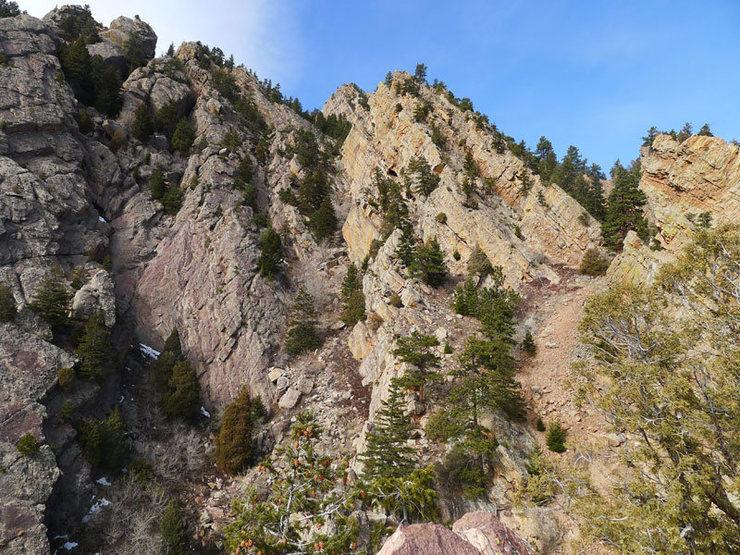 Summit view looking toward upper Rotwand Wall.