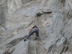 Rock Climbing Photo: Narinda H climbing Spunky Monkey