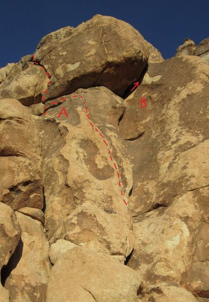 Rock Climbing Photo: A. Blood on the Tracks 5.10a B. Don't Think Twice ...