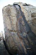 Rock Climbing Photo: Half Moon Boulder - South, North West Topo