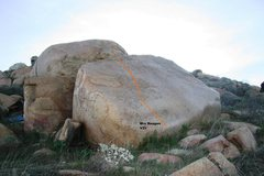 Rock Climbing Photo: Turtle Dome Slab (left) Topo