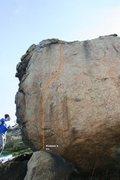 Rock Climbing Photo: Half Moon Boulder - North, North West Topo