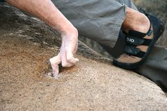 Rock Climbing Photo: The tiny hole in close up.