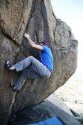 Rock Climbing Photo: Justin starts out on Clinker, V2