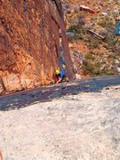 Rock Climbing Photo: Upper portion of the first pitch