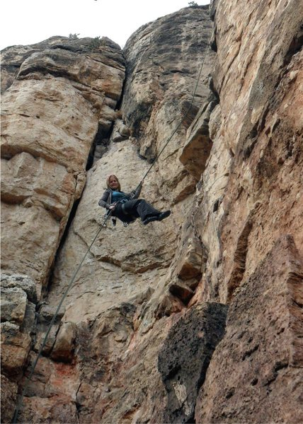 Rock Climbing Photo: Brenda raps Large Marge.