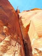 Rock Climbing Photo: A little beta for the upper crux 5.10d pitch - no ...