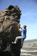 Rock Climbing Photo: Justin enjoying the jugs