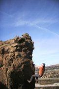 Rock Climbing Photo: Ahh, a nice big jug!