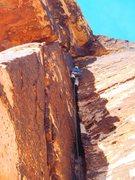 Rock Climbing Photo: Second pitch corner crack of Hidden Persuaders