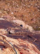 Rock Climbing Photo: Looking down on pitch 3/4 of Hidden Persuaders