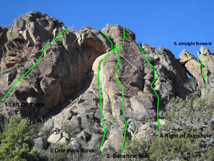 Rock Climbing Photo: Routes 5.2-5.7
