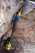 Rock Climbing Photo: Andy Hansen on his first attempt to figure out Met...