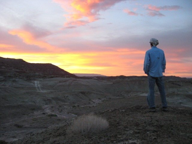 Sunset in the Dutch Flats Desert in Utah.