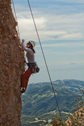 Rock Climbing Photo: Taking a lap on toprope.  This was a superfun rout...