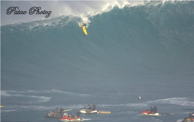 Kai Lenny on a bomb last Peahi swell...  He's stoked and ready for tomorrow's swell! Charge um Kai!