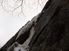 Rock Climbing Photo: Me the central flow that drops to the ground on th...