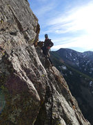 Rock Climbing Photo: Chase about to start the last (shared) pitch of Ye...