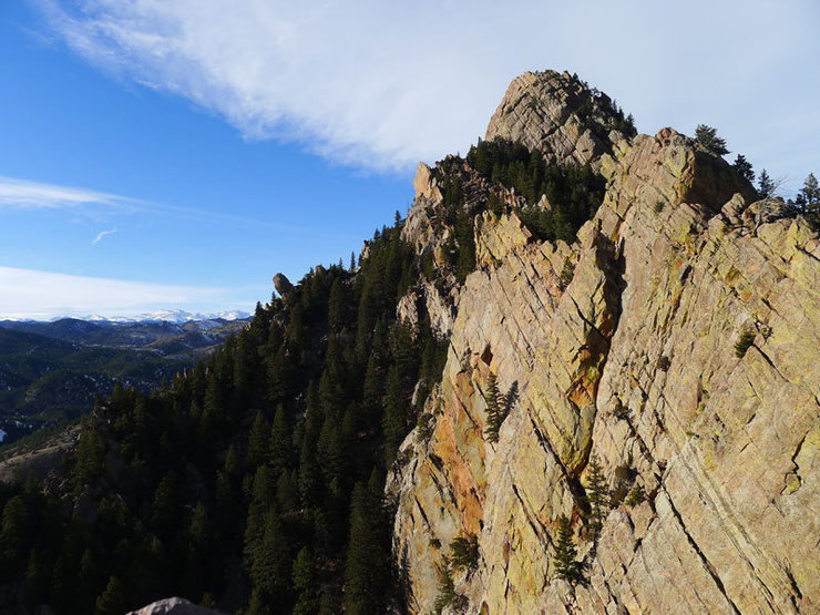 Rock Climbing Photo: Looking toward Shirttail Peak.