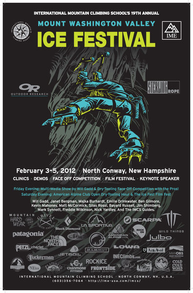 Rock Climbing Photo: 2012 Ice Fest Poster