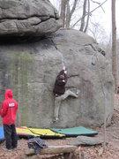 Rock Climbing Photo: Mushroom Crack. V1. Governor Stable