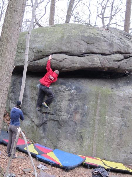 Rock Climbing Photo: Mushroom Cap. V3. Governor Stable
